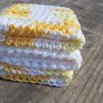Yellow/White Dish Cloth Set, Wash C..